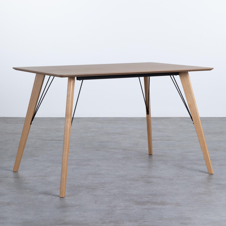 Table Rectangulaire de Salle à manger en Chêne MDF (120x80 cm) Berg, image de la gelerie 1