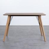 Table Rectangulaire de Salle à manger en Chêne MDF (120x80 cm) Berg, image miniature 3