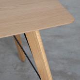 Table Rectangulaire de Salle à manger en Chêne MDF (120x80 cm) Berg, image miniature 6