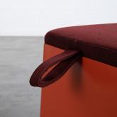 Pouf Carré avec Rangement en Tissu avec Roues en Métal Graos, image miniature 5