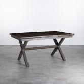 Table de Salle à manger Extensible en Alumunium et Verre (160-210x100 cm) Orson, image miniature 1