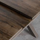 Table de Salle à manger Extensible en Alumunium et Verre (160-210x100 cm) Orson, image miniature 8