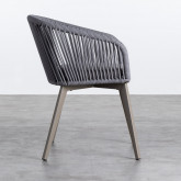 Chaise d'Extérieur en Aluminium et Corde Xile, image miniature 3