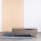Table Basse Rectangulaire Relevable en MDF (110x86 cm) Mary, image miniature 2