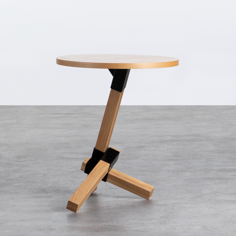 Table d'Appoint Ronde en Bois (Ø40 cm) Kalvan, image de la gelerie 1