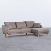 Canapé d'angle à Droite 4 Places en Tissu Rhemet, image miniature 1