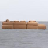 Canapé d'Angle à droite avec Pouf en Similicuir Broni, image miniature 6
