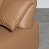 Canapé d'Angle à droite avec Pouf en Similicuir Broni, image miniature 7