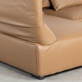 Canapé d'Angle à droite avec Pouf en Similicuir Broni, image miniature 8