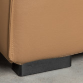 Canapé d'Angle à droite avec Pouf en Similicuir Broni, image miniature 9