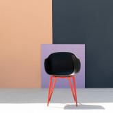 Chaise de Salle à manger avec Accoudoirs en Polypropylène et Métal Jed Classic, image miniature 2