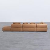 Canapé d'angle à Gauche avec Pouf en Similicuir Broni, image miniature 6