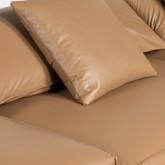 Canapé d'angle à Gauche avec Pouf en Similicuir Broni, image miniature 7