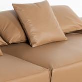 Canapé d'angle à Gauche avec Pouf en Similicuir Broni, image miniature 9