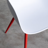 Chaise de Salle à manger avec Accoudoirs en Polypropylène et Métal Jed Classic, image miniature 6