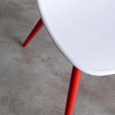 Chaise de Salle à manger en Polypropylène et Métal Jed Classic, image miniature 4