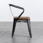 Chaise de Salle à manger en Acier et Bois Industriel Wood, image miniature 3