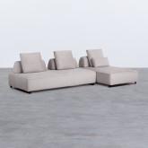Canapé d'angle à Droite 4 Places en Tissu Vogle, image miniature 1