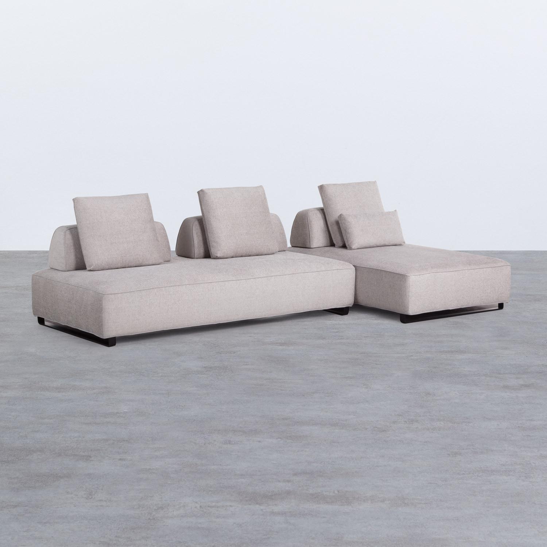 Canapé d'angle à Droite 4 Places en Tissu Vogle, image de la gelerie 1