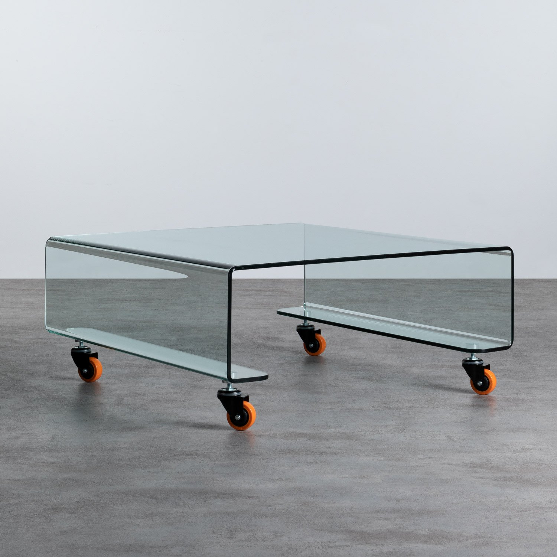 Table Basse Carrée en Verre (100x100 cm) Rolcris, image de la gelerie 1