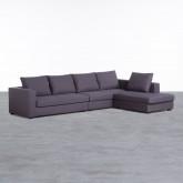 Canapé d'angle à Droite 4 Places en Tissu Dicman, image miniature 1