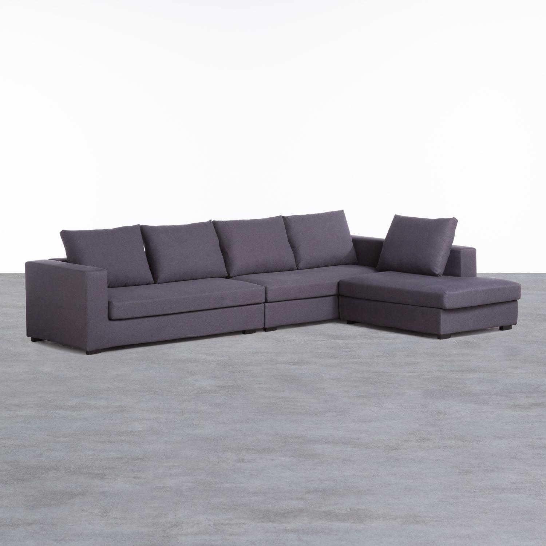 Canapé d'angle à Droite 4 Places en Tissu Dicman, image de la gelerie 1