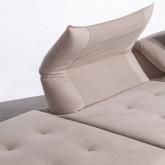Canapé d'angle à Droite Modulaire en Tissu Cinda, image miniature 6