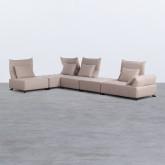 Canapé d'angle à Gauche Modulaire en Tissu Cinda, image miniature 2