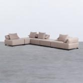 Canapé d'angle à Gauche Modulaire en Tissu Cinda, image miniature 1