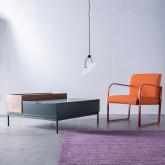 Table Basse Carrée en MDF et Métal (100x100 cm) Kaste, image miniature 3