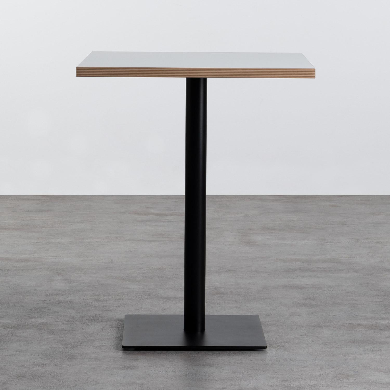 Table à manger carrée en mélaminé et métal (60x60 cm) Otyl, image de la gelerie 1
