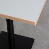 Table à manger carrée en mélaminé et métal (60x60 cm) Otyl, image miniature 2