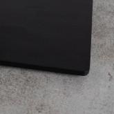 Table à manger carrée en mélaminé et métal (60x60 cm) Otyl, image miniature 3