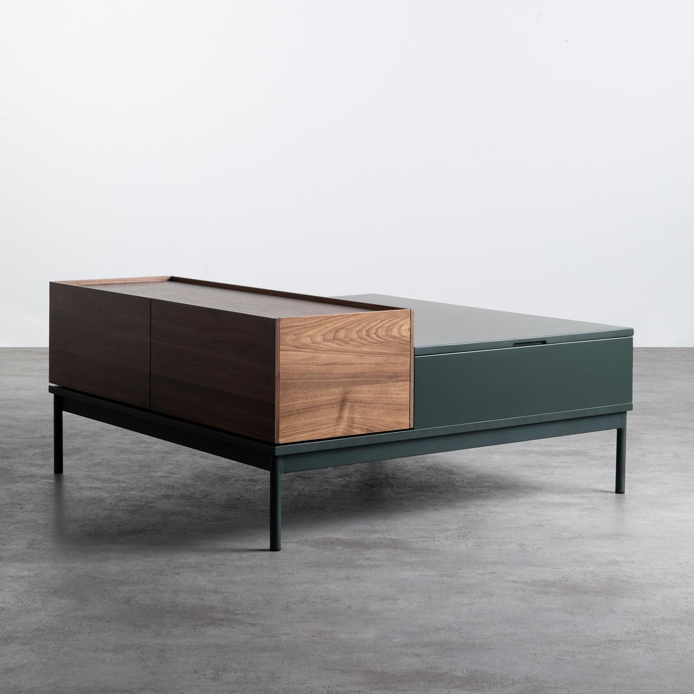 Table Basse Carrée en MDF et Métal (100x100 cm) Kaste, image de la gelerie 1