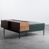Table Basse Carrée en MDF et Métal (100x100 cm) Kaste, image miniature 4