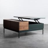 Table Basse Carrée en MDF et Métal (100x100 cm) Kaste, image miniature 5