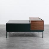 Table Basse Carrée en MDF et Métal (100x100 cm) Kaste, image miniature 6