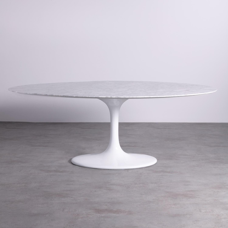 Table FREYA WHITE MARMOL 120x199, image de la gelerie 1