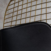 Chaise de Salle à manger en Acier Amber Golden Édition, image miniature 4