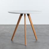 Table de Salle à manger en MDF (Ø80 cm) Astrid, image miniature 1