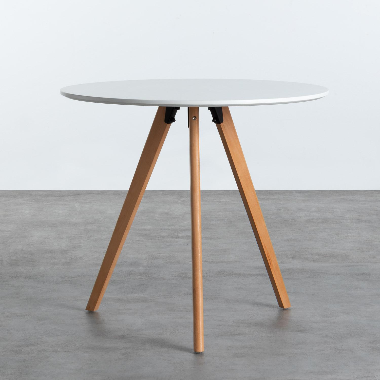 Table de Salle à manger en MDF (Ø80 cm) Astrid, image de la gelerie 1