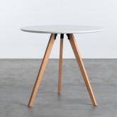 Table de Salle à manger en MDF (Ø80 cm) Astrid, image miniature 2