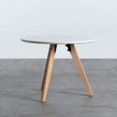 Table Ronde d'appoint en MDF (Ø60 cm) Astrid, image miniature 1