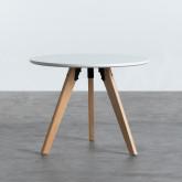 Table Ronde d'appoint en MDF (Ø60 cm) Astrid, image miniature 2