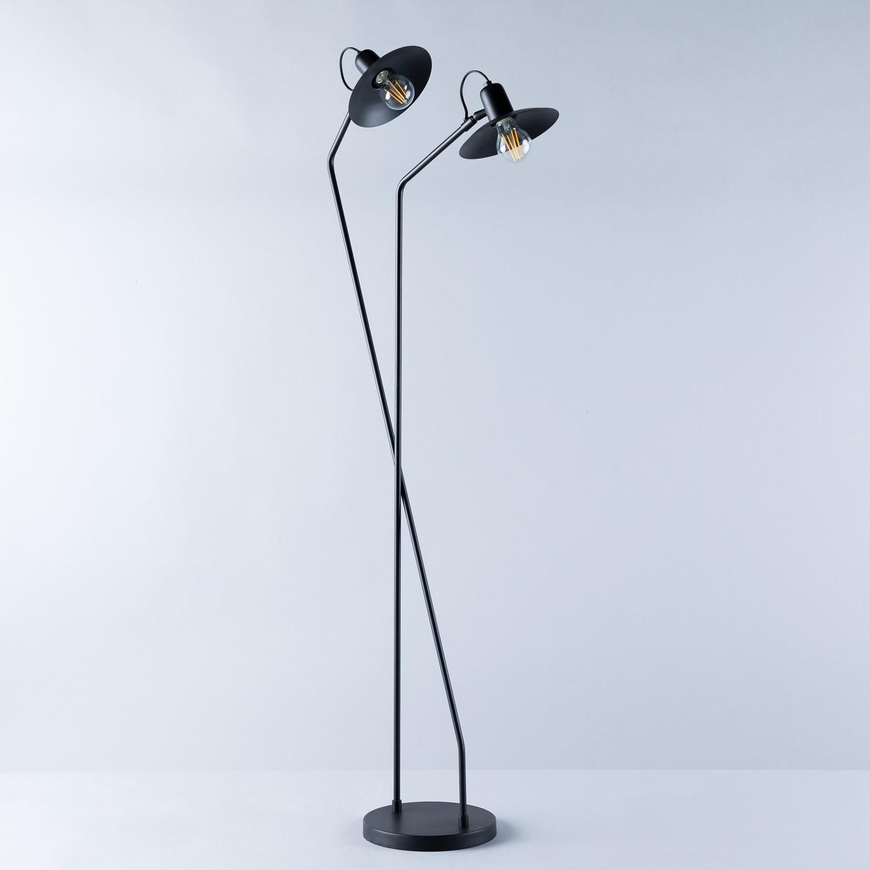 Lampadaire avec lumière LED en Métal Areu, image de la gelerie 1