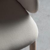 Chaise de Salle à manger en Tissu et Bois Wisi, image miniature 4