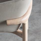 Chaise de Salle à manger en Tissu et Bois Wisi, image miniature 5