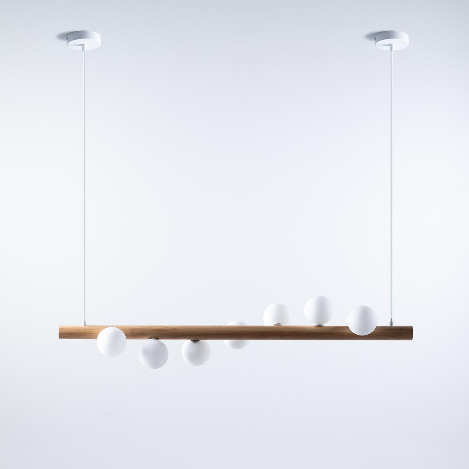 Suspension LED en Bois Serp , image de la gelerie 1