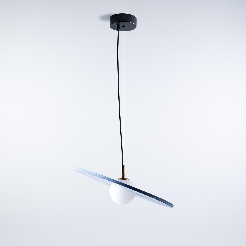 Suspension LED en Terrazzo Drómeda, image de la gelerie 1
