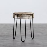 Table d'Appoint/Tabouret bas en Rotin Naturel Kure (Ø35 cm), image miniature 1